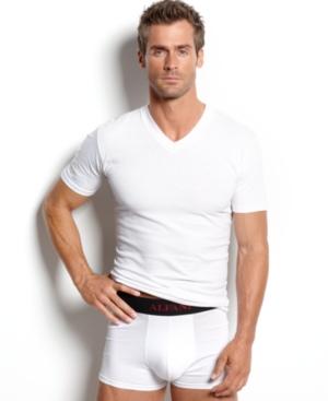 alfani men's underwear, tagless v neck Undershirt 4 pack