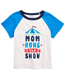 First Impressions Baby Boys Graphic-Print Raglan T-Shirt, Created for Macy's