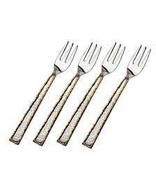 Golden Frost Dessert Forks - Set of 4