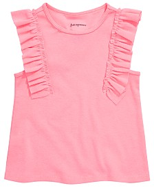 First Impressions Baby Girls Ribbed Ruffle Top, Created for Macy's