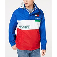 Tommy Hilfiger Mens Crew Colorblocked Logo Jacket Deals