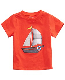 First Impressions Baby Boys Cotton Sailboat T-Shirt, Created for Macy's