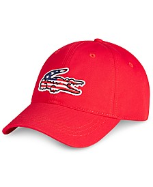 Lacoste Men's Big Croc American Flag Logo Cap
