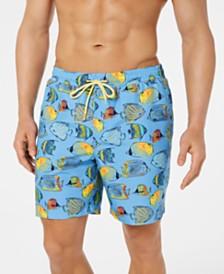 "Club Room Men's Bluegill Quick-Dry 7"" Swim Trunks, Created for Macy's"