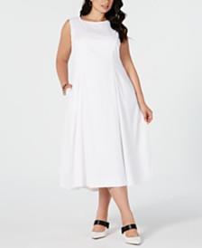 Alfani Plus Size Sleeveless A-Line Midi Dress, Created for Macy's