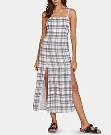 Juniors' Plaid Midi Dress