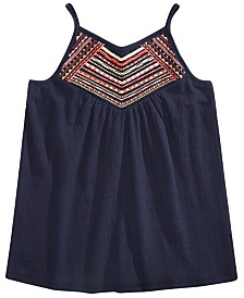 Epic Threads Big Girls Embroidered Tank Top, Created for Macy' s