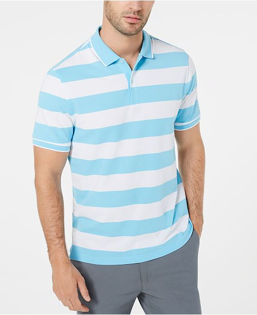 Club Room Men's Striped Polo, Created for Macy's