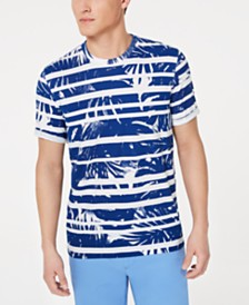 Michael Kors Men's Abstract Stripe Palm Graphic T-Shirt