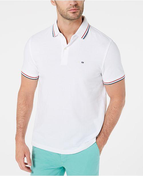 553a9338 Tommy Hilfiger Men's Tanner Contrast-Stripe Polo; Tommy Hilfiger Men's  Tanner Contrast-Stripe ...
