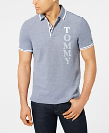 Tommy Hilfiger Men's Larrier Stretch Tipped Logo Polo