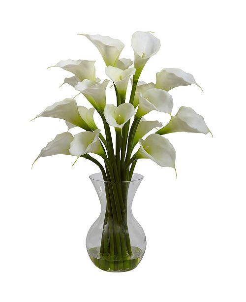 Nearly Natural Gala Calla Lily w/Vase Arrangement