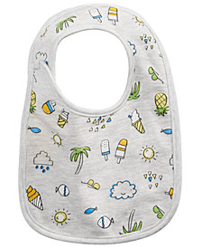 First Impressions Baby Boys or Girls Ice Cream Bib, Created for Macy's