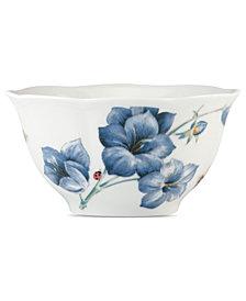 Lenox Dinnerware, Butterfly Meadow Blue Cereal Bowl