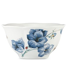 Lenox Dinnerware, Butterfly Meadow Blue Cereal Bowl