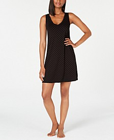 Knit Dot-Print Chemise Nightgown, Created for Macy's