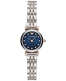 Emporio Armani Women's Two-Tone Stainless Steel Bracelet Watch 22mm