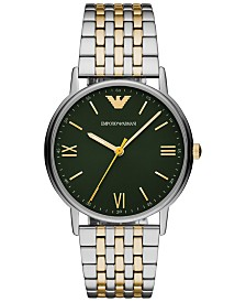 Emporio Armani Men's Two-Tone Stainless Steel Bracelet Watch 41mm