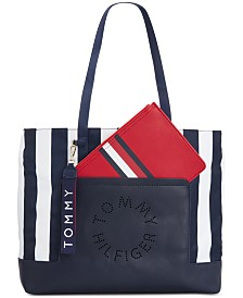 Tommy Hilfiger Virden Striped Nylon Tote