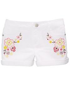Epic Threads Big Girls Floral-Embellished Denim Shorts, Created for Macy's