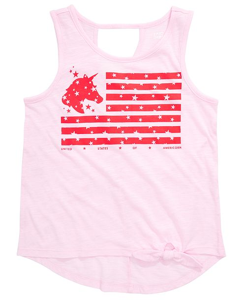 Epic Threads Big Girls Graphic-Print Flag Tank Top, Created for Macy's