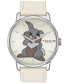 Disney x Women's Thumper Grand Chalk Leather Strap Watch  40mm