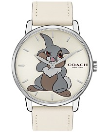 Disney x COACH Women's Thumper Grand Chalk Leather Strap Watch  40mm