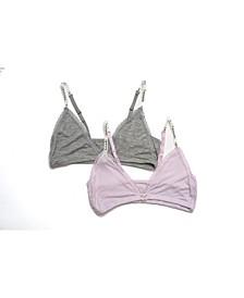 Tahari Girl 2-Pack Triangle Lace-Trim Bra