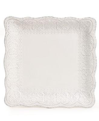 Blanc Elisabeth Square Dinner Plate