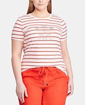 6d1b516d6 Lauren Ralph Lauren Plus Size Striped T-Shirt