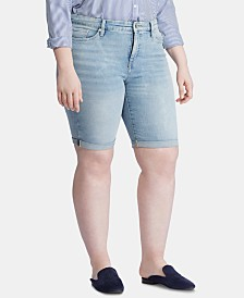 Lauren Ralph Lauren Plus Size Denim Bermuda Shorts