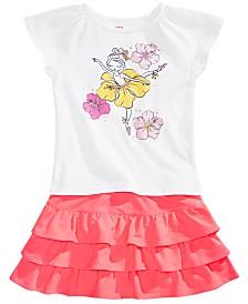 Epic Threads Little Girls Flower Girl-Print T-Shirt & Tiered Skirt, Created for Macy's