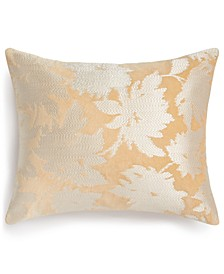 "Embroidered Floral 260-Thread Count 16"" x 20"" Decorative Pillow, Created for Macy's"