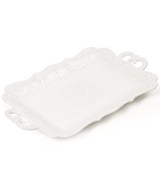 Blanc Rectangular Handled Platter by Maison Versailles