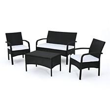 Cordoba Outdoor 4pc Seating Set, Quick Ship