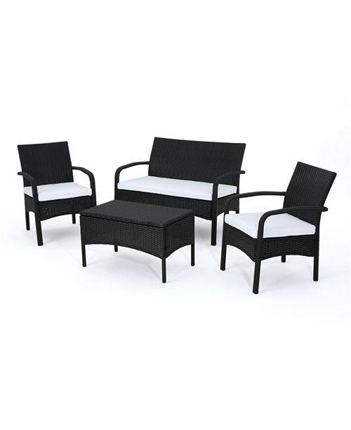 Noble House Cordoba Outdoor 4pc Seating Set