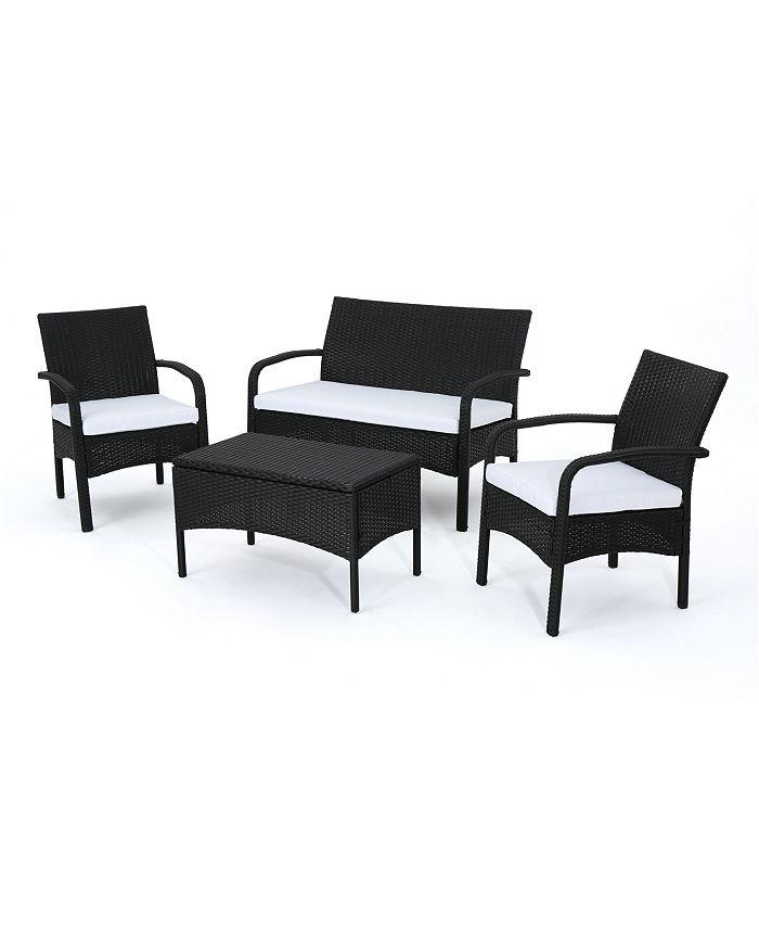 Noble House - Cordoba Outdoor 4pc Seating Set, Quick Ship