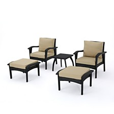 Honolulu Outdoor 5pc Seating Set, Quick Ship