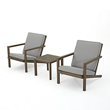 Leah Outdoor 3pc Dining Set
