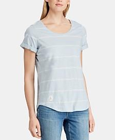 Lauren Ralph Lauren Striped Jersey Scoop-Neck T-shirt