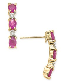 Ruby (1-1/2 ct. t.w.) & Diamond Accent Drop Earrings in 14k Gold