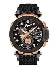 Men's T-Race MotoGP 2019 Swiss Chronograph Limited Edition Black Rubber Strap Watch 47.6mm