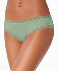 Natori Bliss Lace-Trim Cotton Brief 156058