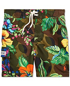Toddler Boys Kailua Floral-Print Swim Trunks