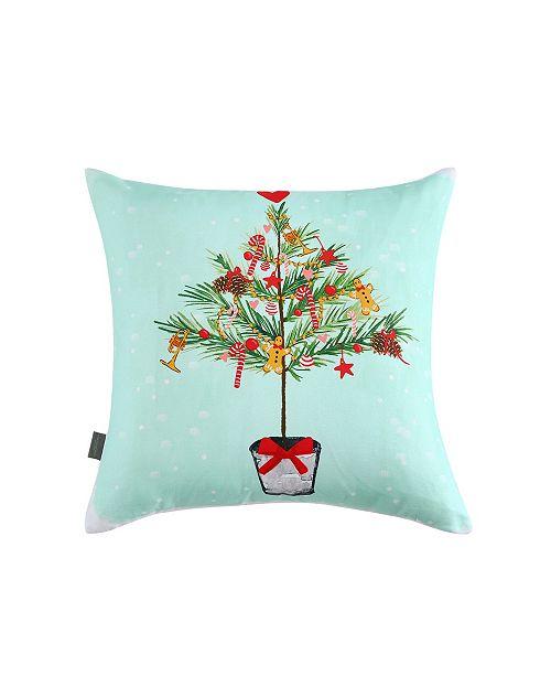Sara B. Skinny Tree Square Decorative Pillow