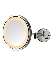 """The Jerdon HL1016CL 9.5"""" 5X Magnified LED Wall Mount Mirror"""