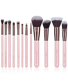 12-Pc. Rose Gold Makeup Brush Set