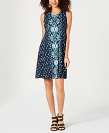 Style & Co Printed Swing Dress, Created for Macy's