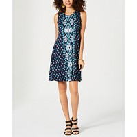 Deals on Style & Co Printed Swing Dress
