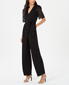 Calvin Klein Embroidered-Sleeve Jumpsuit